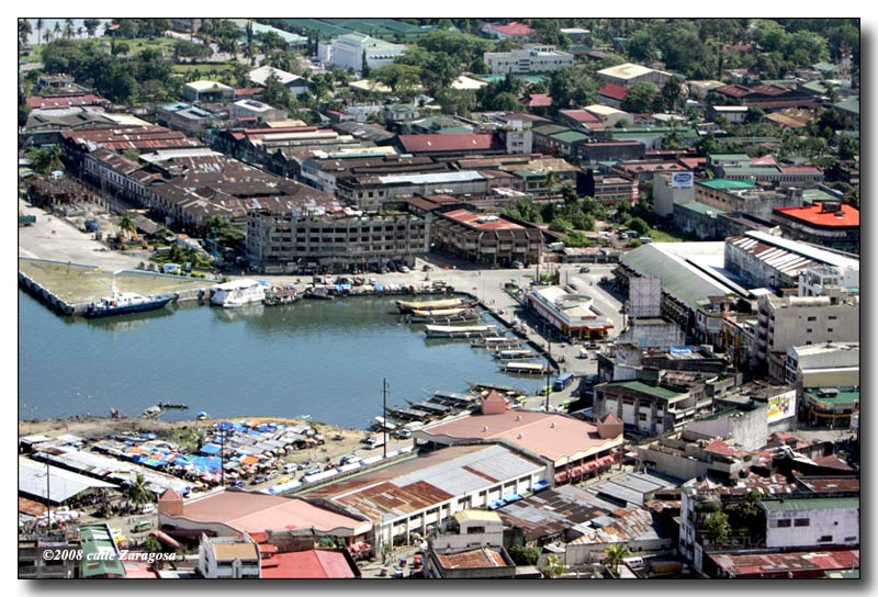 Tacloban City Philippines  City new picture : Tacloban Port showing Tacloban Public Market at the foreground, MacDo ...